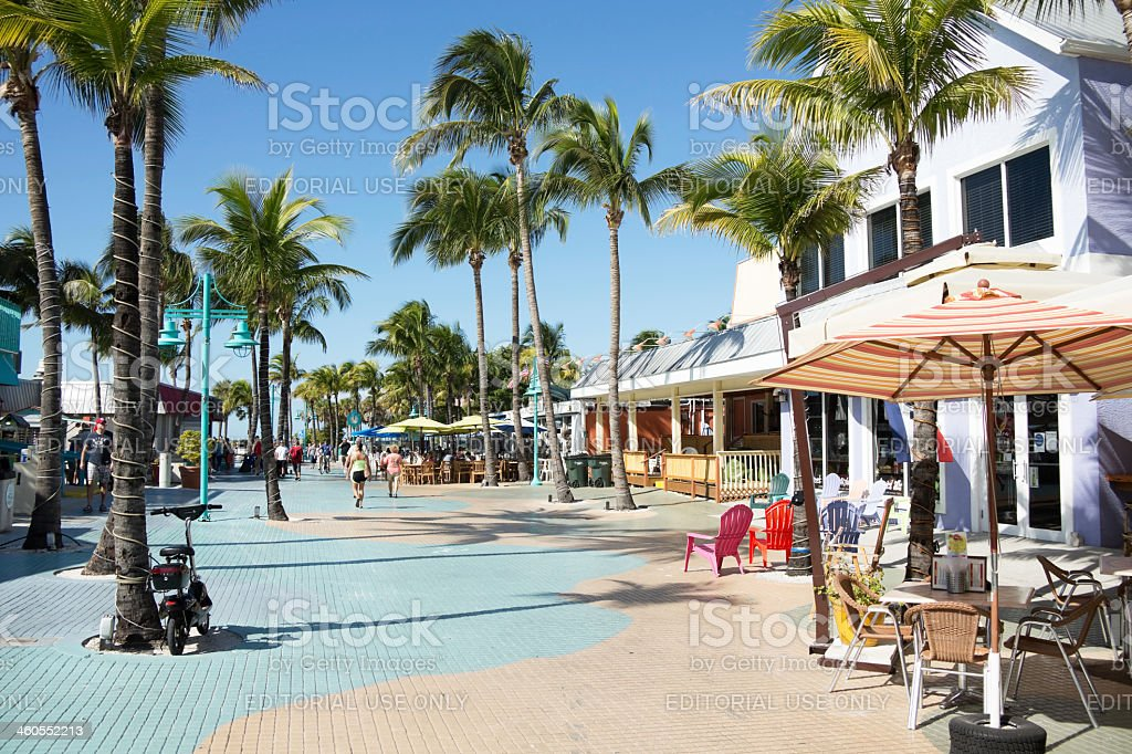 Ft. Myers Beach Florida Times Square Area stock photo