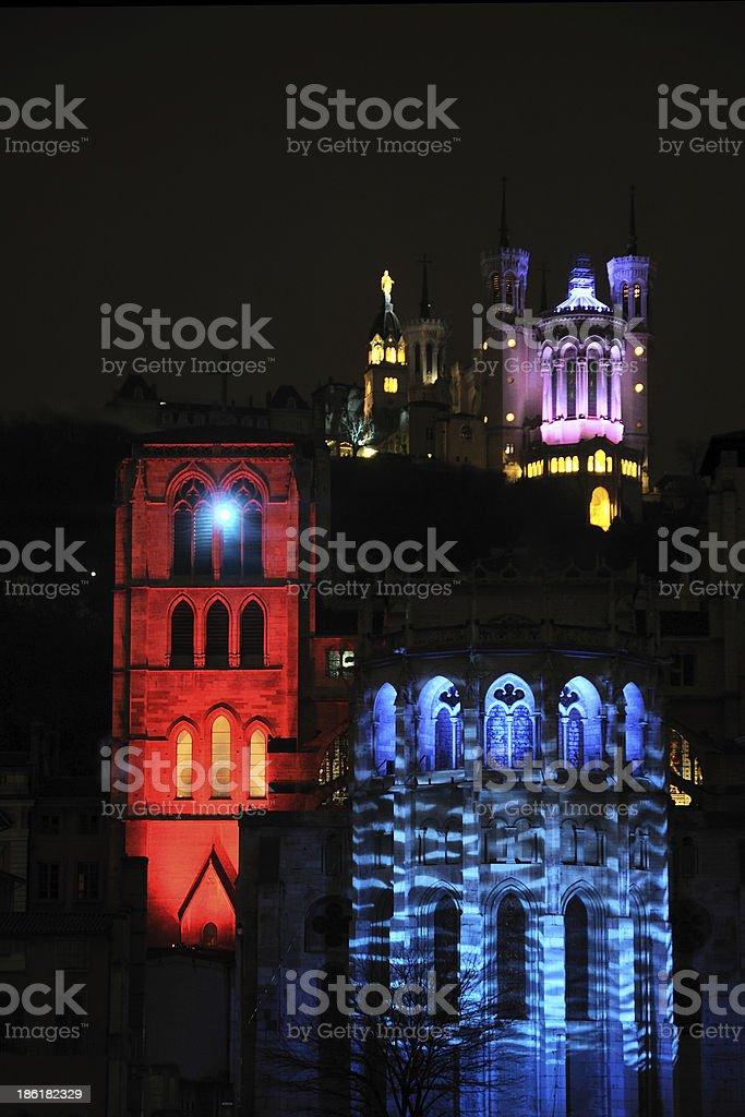 Fête des Lumières - Lyon stock photo