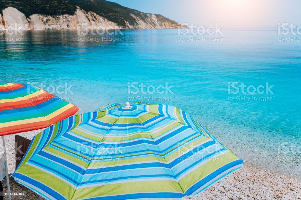 Fteri Beach In Kefalonia Island Greece One Of The Most