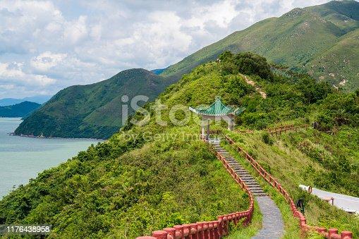 Fu Shan footpath above Tai O village on Lantau Island in Hong Kong