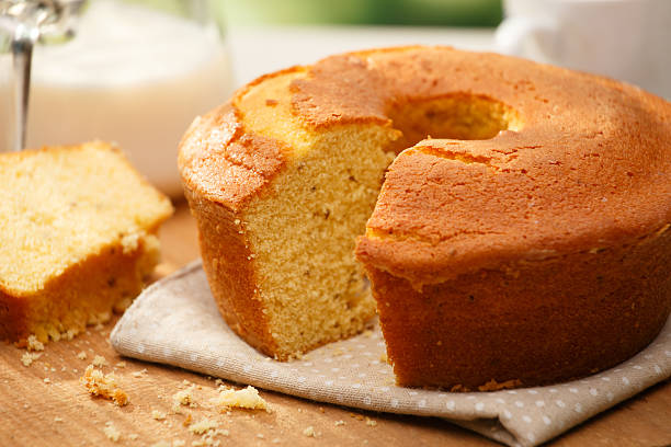 Fuba cake Traditional brazilian Fuba cake cake stock pictures, royalty-free photos & images