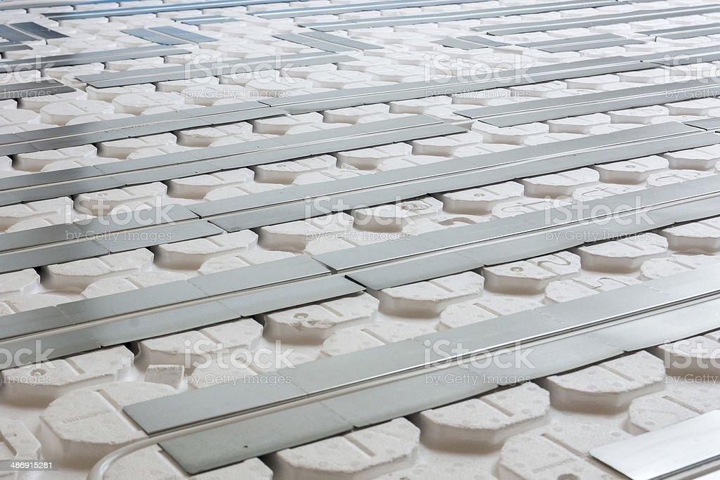 Fußbodenheizung stock photo