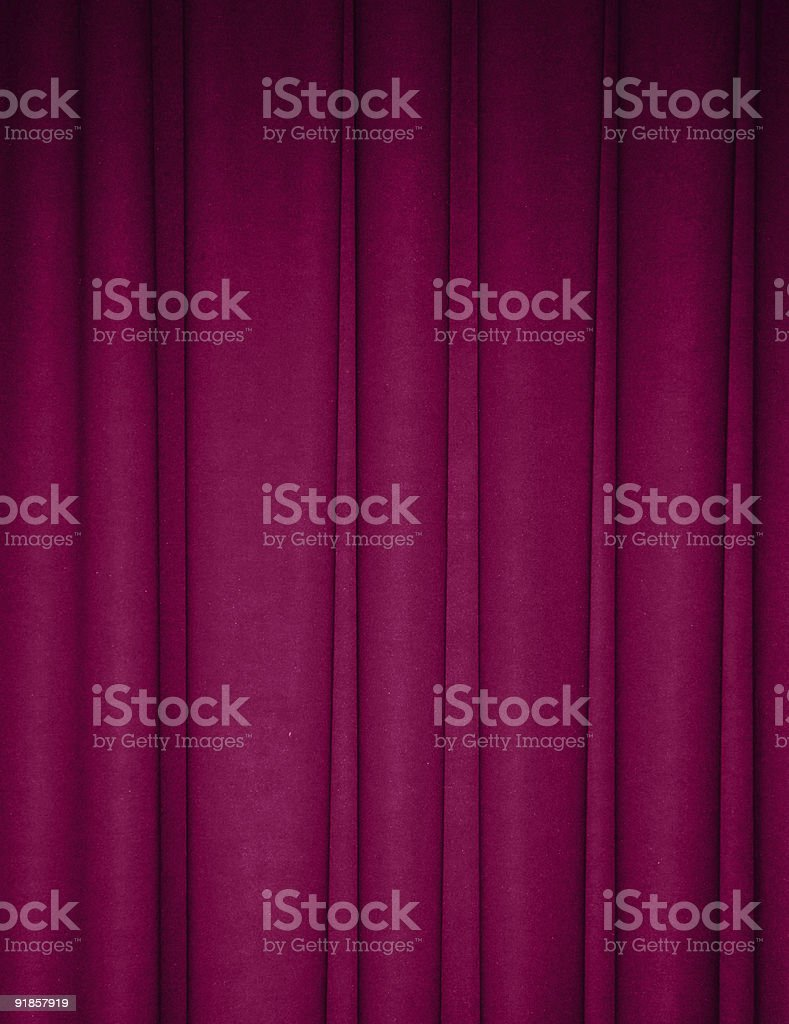 Fuchsia draped backdrop background stock photo