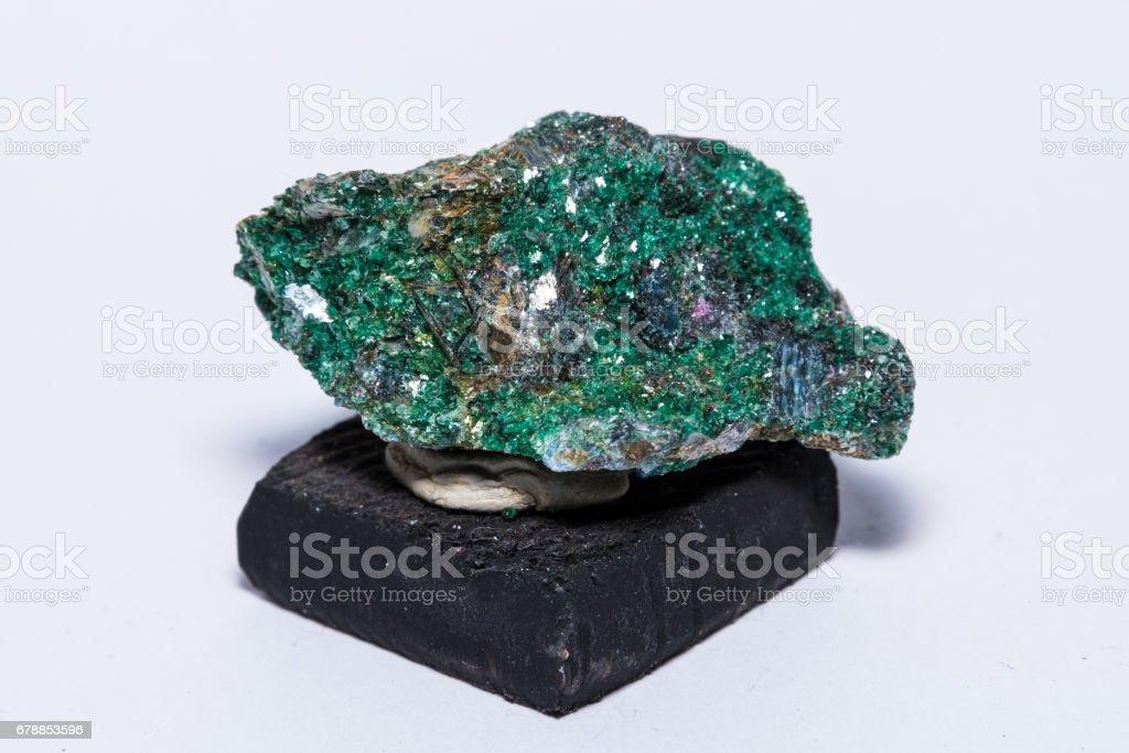 Fuchsit India crystal diamond gemstone gem jewel mineral precious stock photo
