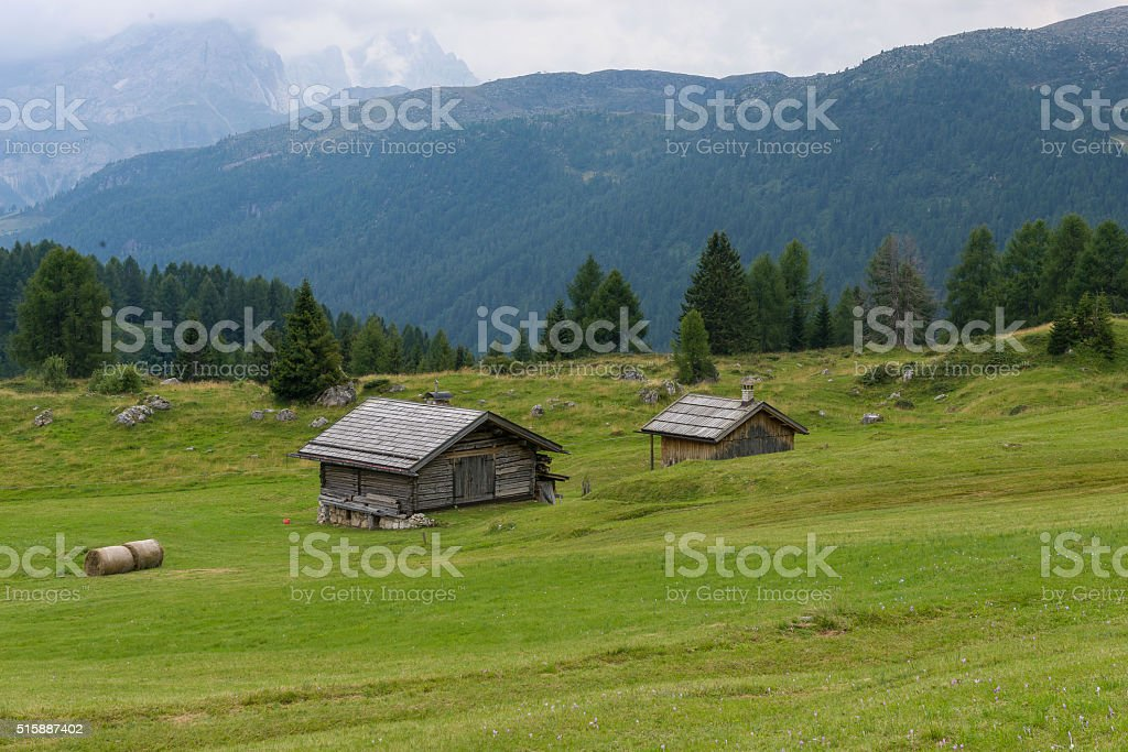 Fuciade Valley in the Dolomites stock photo