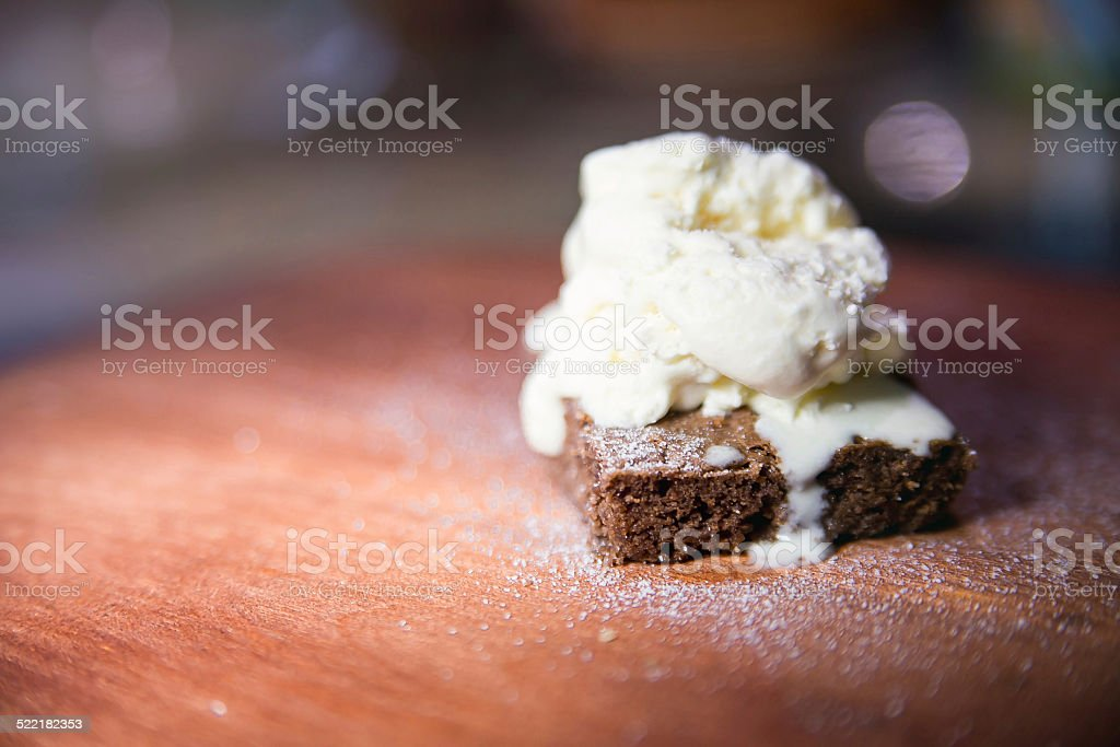 Fudgy Choco Brownie stock photo