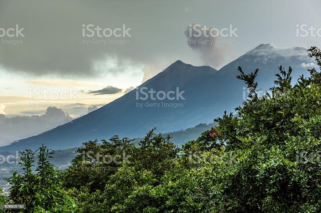 Fuego & Acatenango volcanoes, Antigua, Guatemala - Photo
