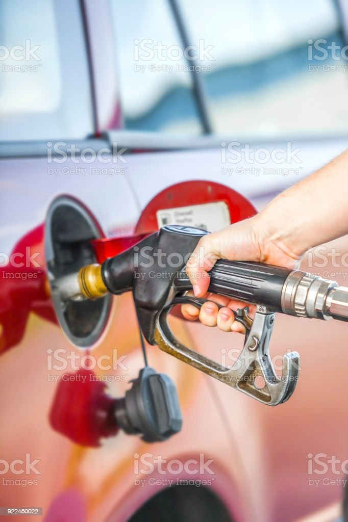 Fuel a tank of a car. stock photo