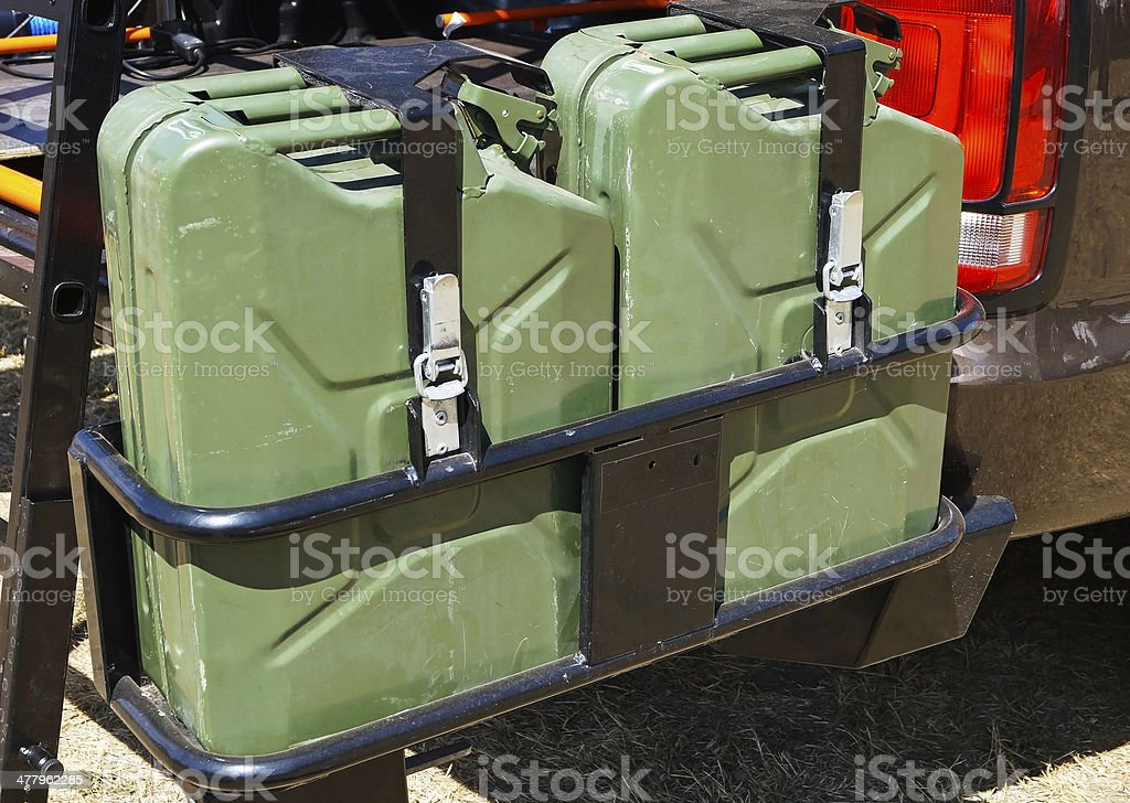 fuel cans royalty-free stock photo