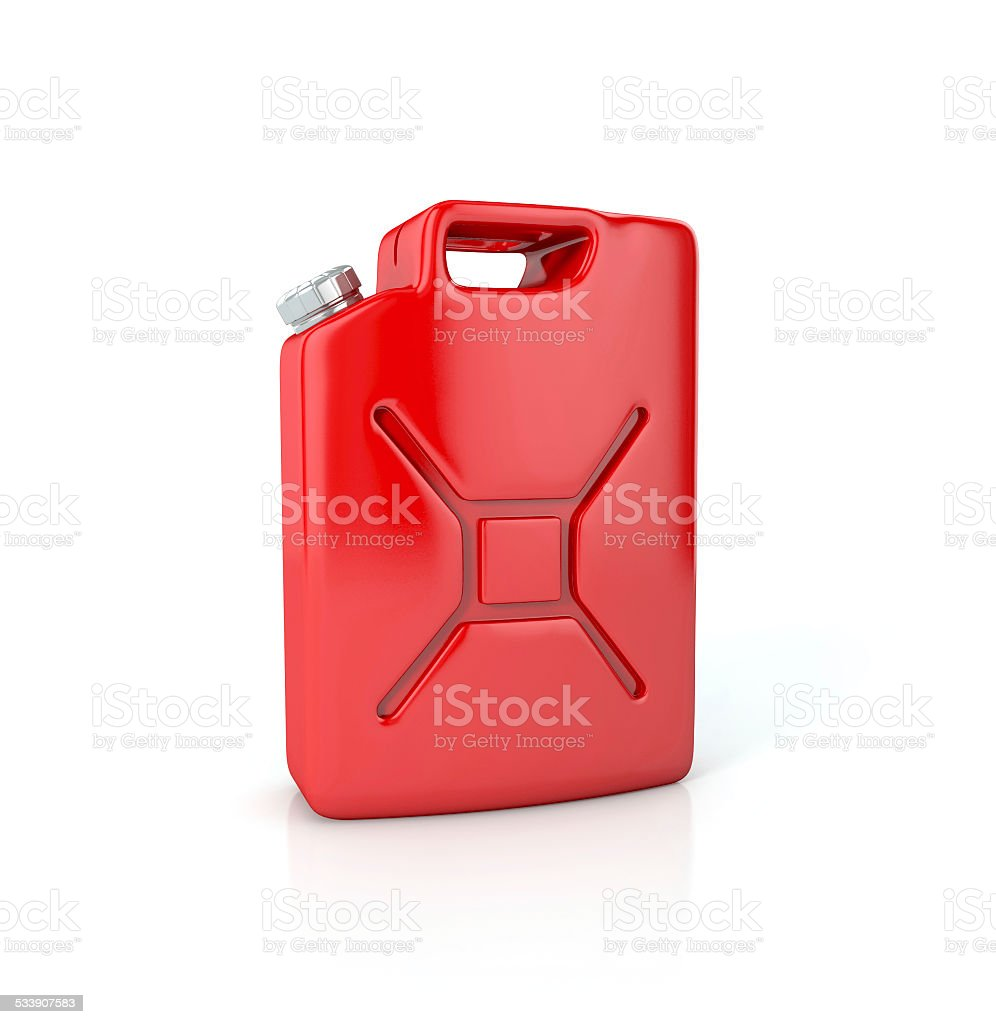 Fuel container canister. stock photo