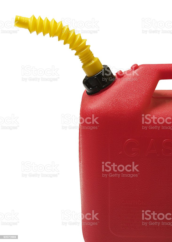 Fuel Container (isolated) royalty-free stock photo