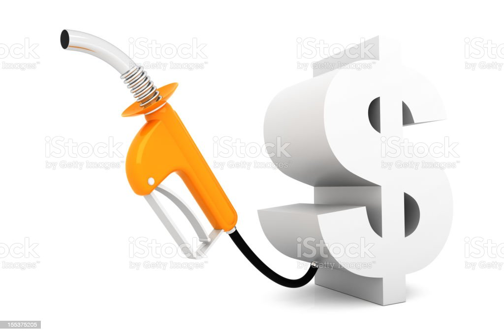 Fuel Cost Concept royalty-free stock photo