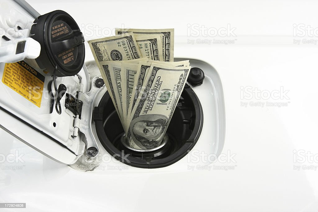 Fuel cost stock photo