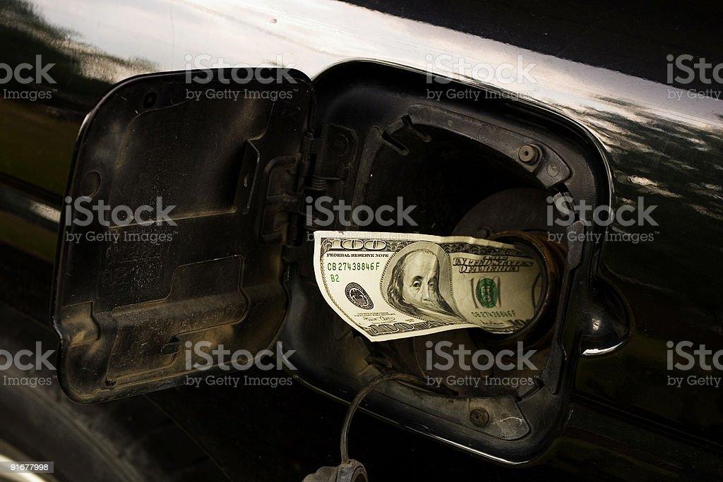 Fuel costs, horizontal stock photo