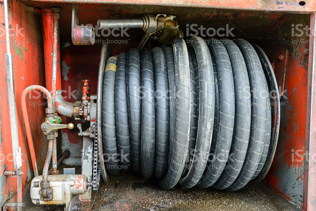 Fuel Delivery Tanker pump stock photo