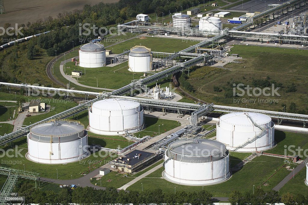 Fuel depot royalty-free stock photo