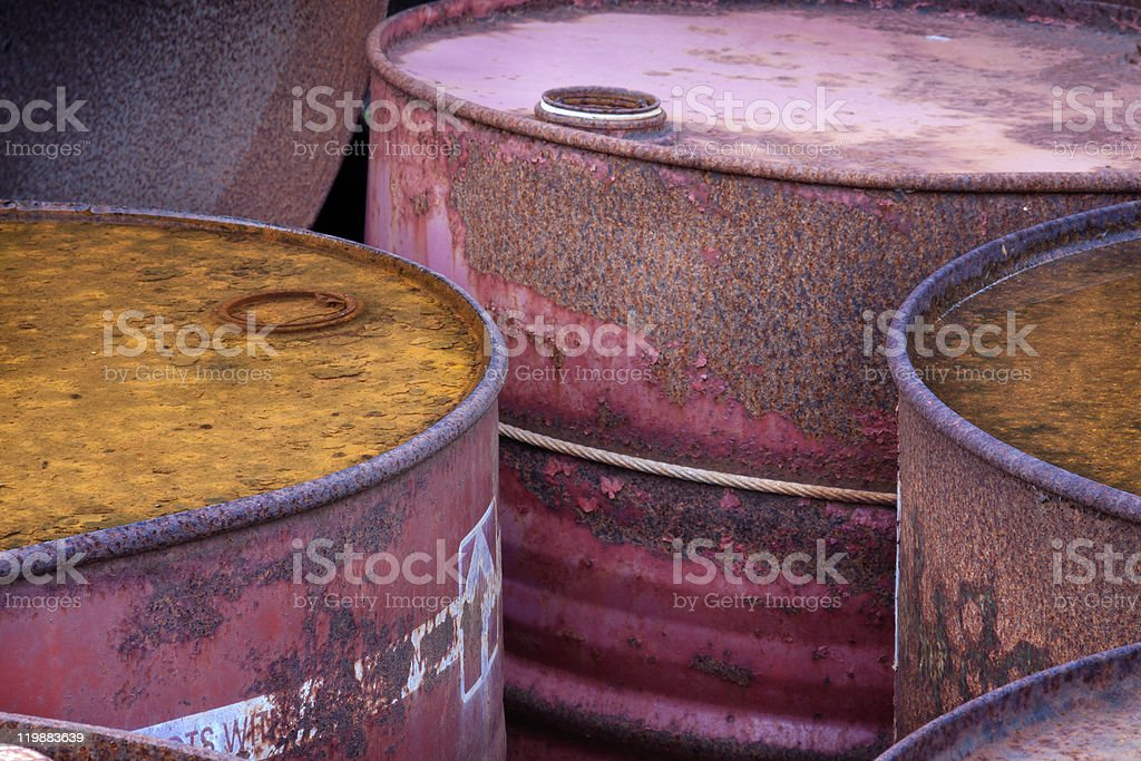Fuel drums royalty-free stock photo