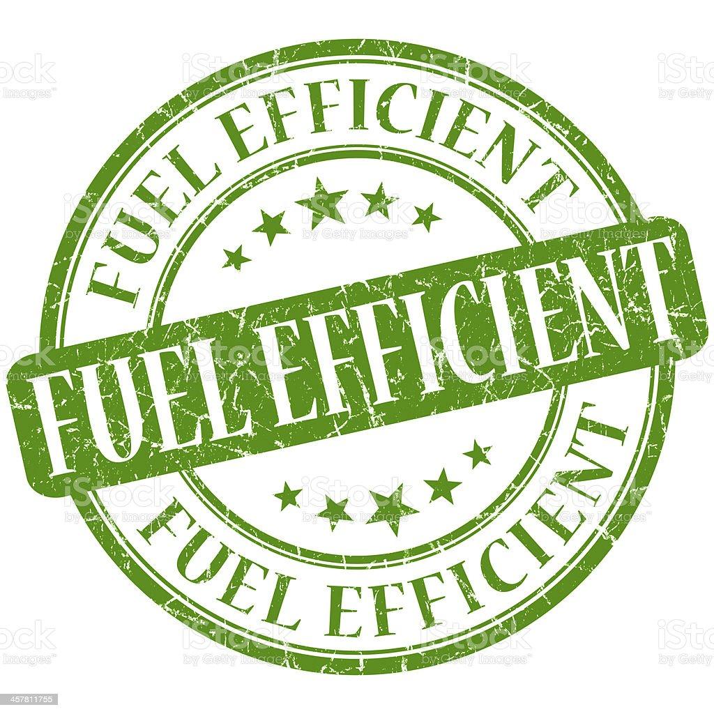 Fuel efficient grunge green round stamp stock photo