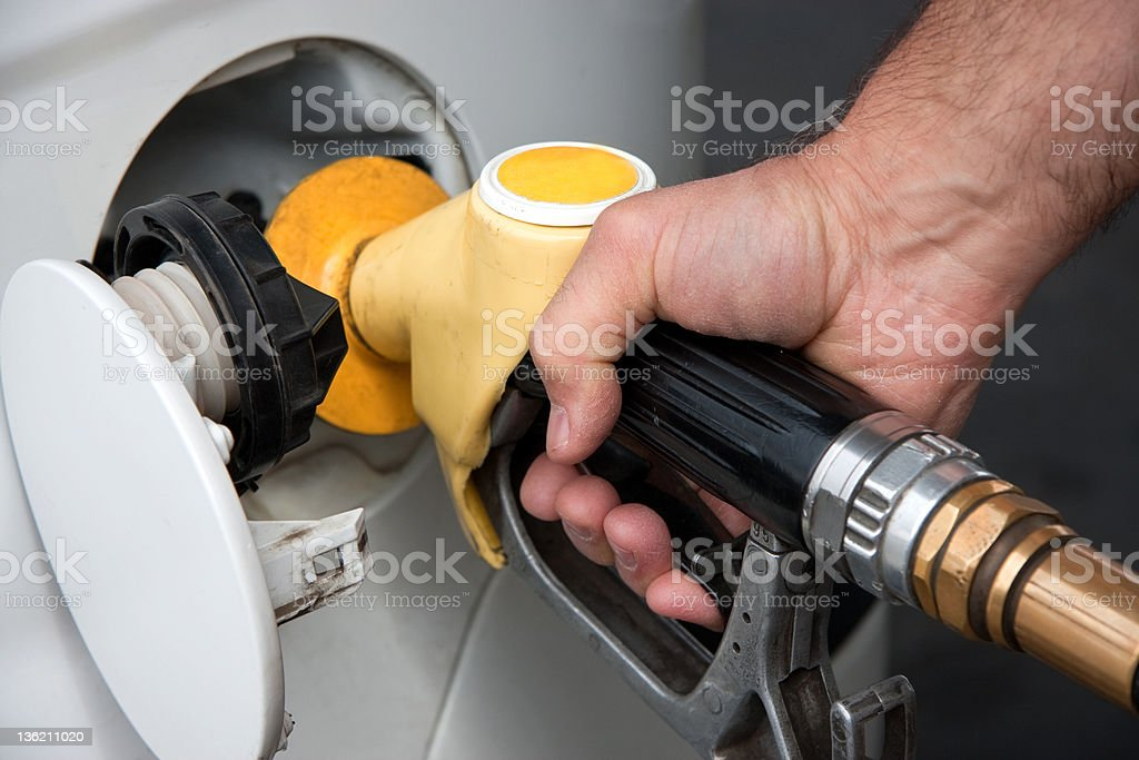 Fuel fill stock photo