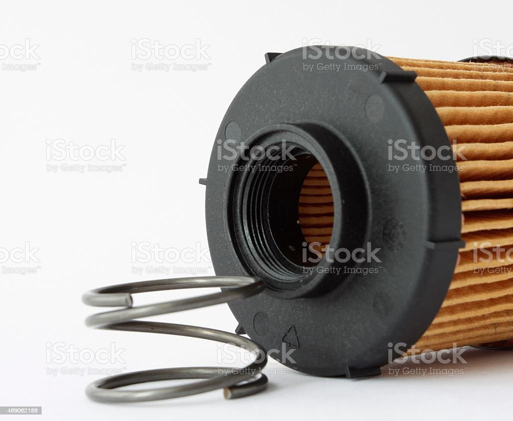 Fuel Filter For Engine Car In Detail Isolate On White Stock Photo Royalty Free
