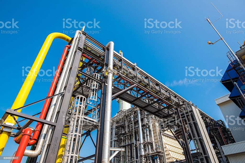 Fuel gas combine cycle power plant stock photo