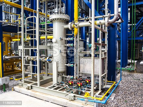 1132919452istockphoto Fuel gas fitter systems in industry zone at Combined-Cycle Co-Generation power plant. 1139590703