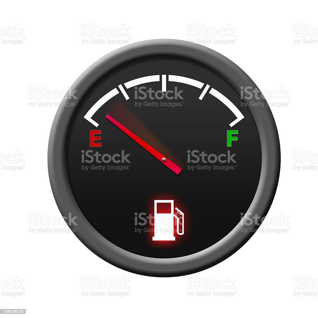 Fuel Gauge -empty- stock photo