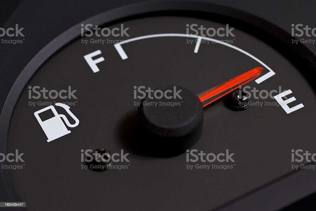 Fuel gauge royalty-free stock photo