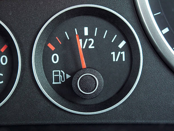 Fuel gauge stock photo