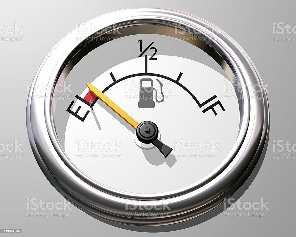 Fuel gauge royalty-free stock photo