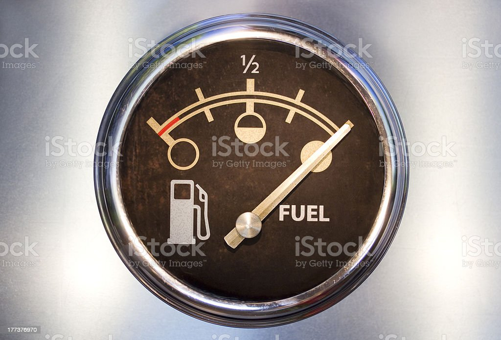 Fuel gauge showing full royalty-free stock photo
