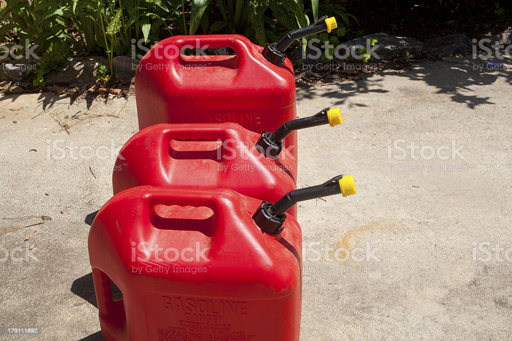 Fuel Jugs royalty-free stock photo