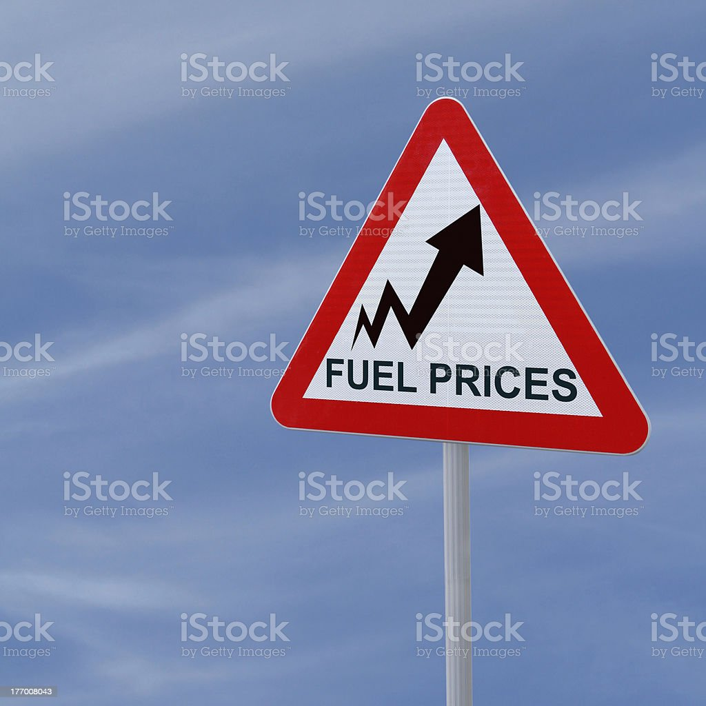 Fuel Prices Going Up stock photo