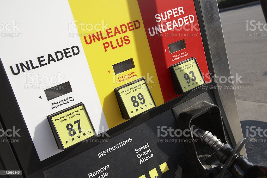 Fuel pump close up royalty-free stock photo