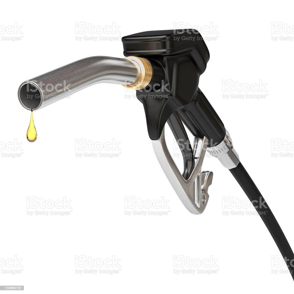 Fuel pump nozzle royalty-free stock photo