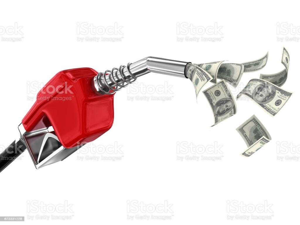 Fuel pump oil energy savings money stock photo