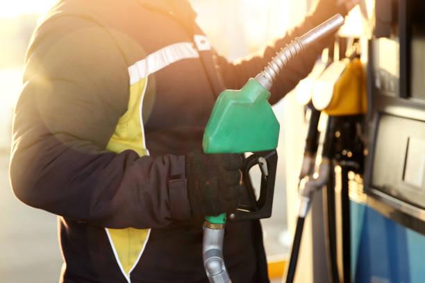 Fuel pump stock photo