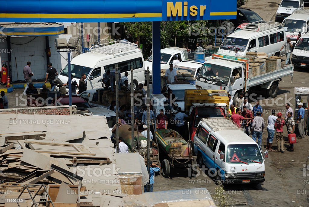 Fuel Shortage in Egypt stock photo