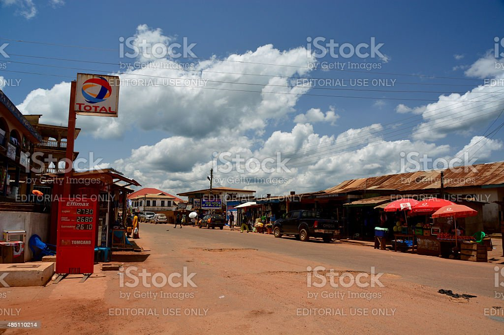 Fuel station Africa stock photo