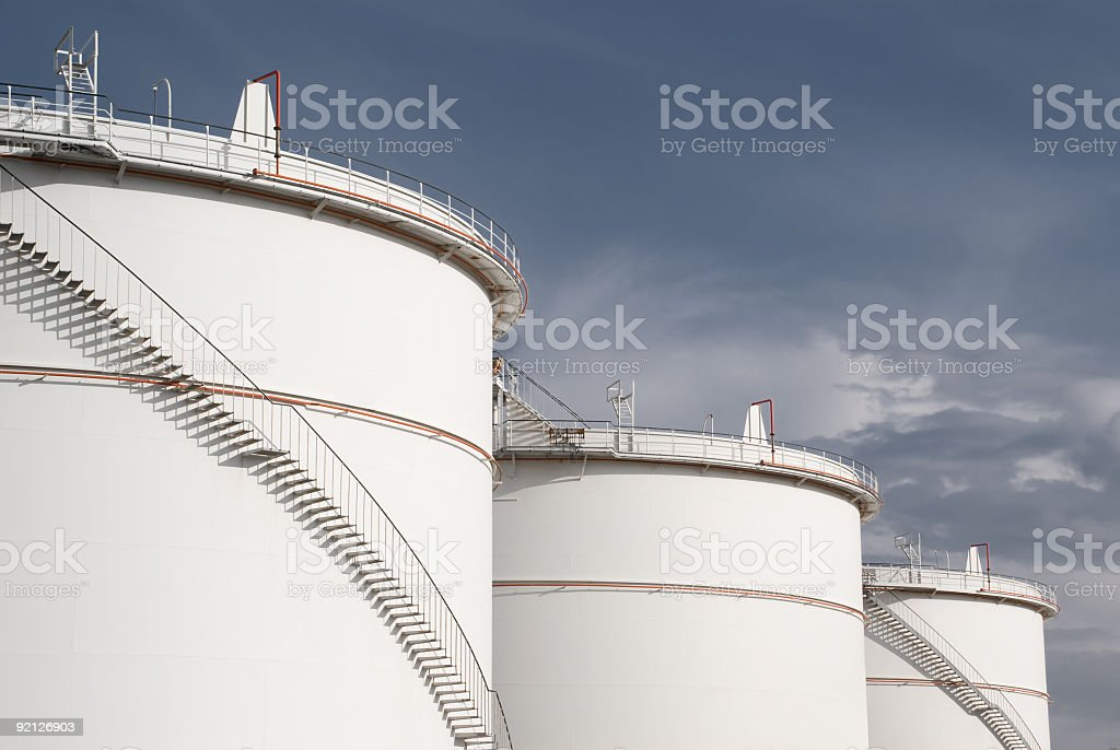 Fuel Storage Tank stock photo