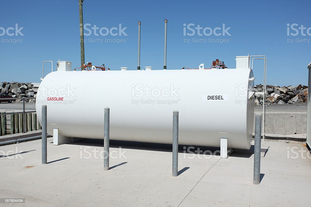 Fuel tank stock photo
