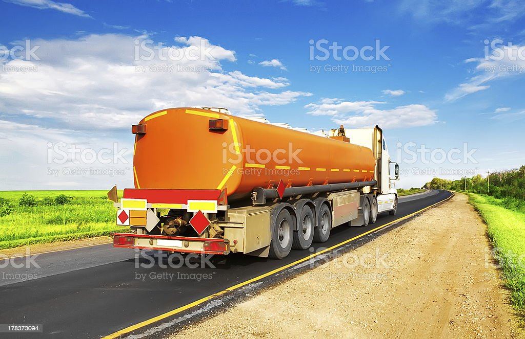 fuel tanker royalty-free stock photo