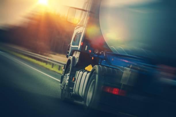 Fuel Tanker Truck Transportation stock photo