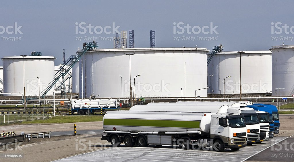 Fuel tankers royalty-free stock photo