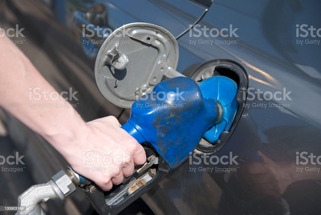 Fuel tanking royalty-free stock photo