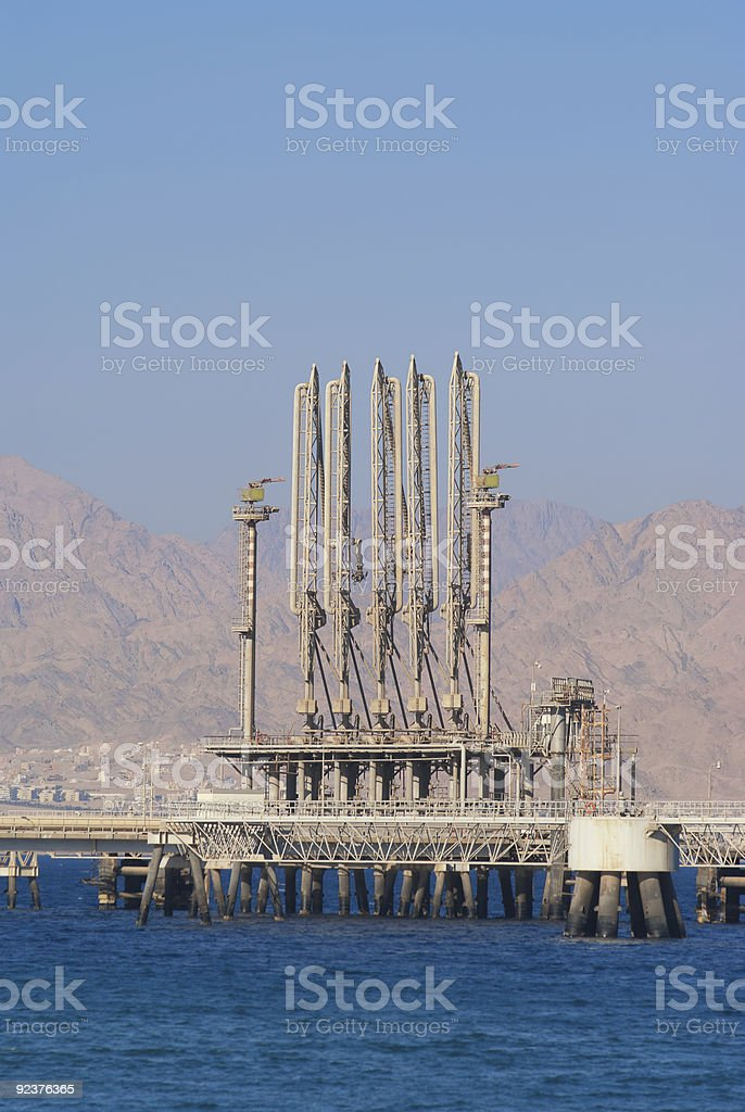 Fuel terminal at Eilat harbour royalty-free stock photo