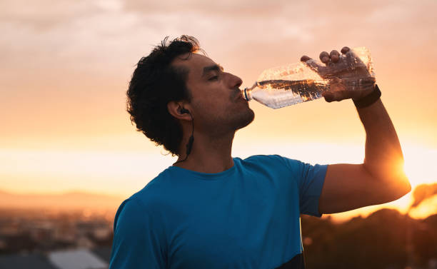Fuel your workout with water stock photo