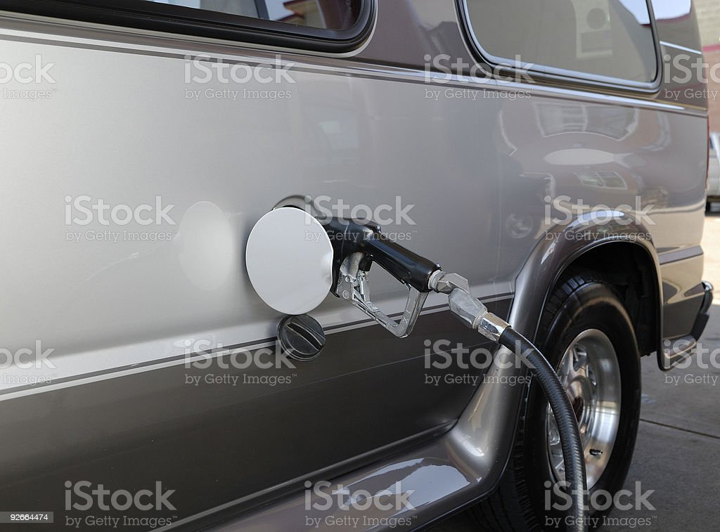 Fueling Big Time royalty-free stock photo