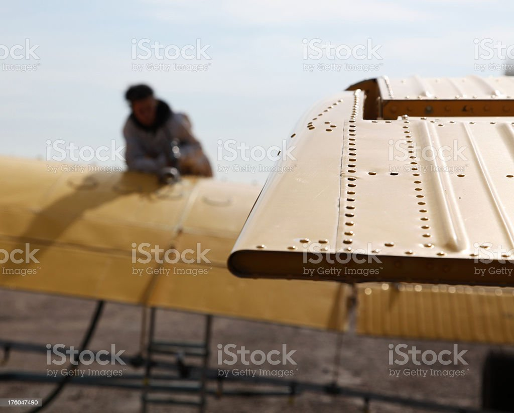 fueling crop duster plane royalty-free stock photo