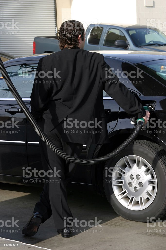 Fueling the car royalty-free stock photo